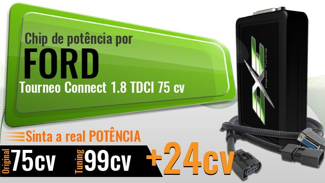 Chip de potência Ford Tourneo Connect 1.8 TDCI 75 cv