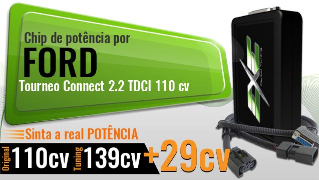 Chip de potência Ford Tourneo Connect 2.2 TDCI 110 cv