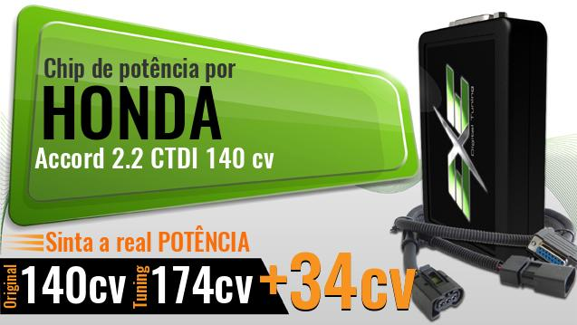 Chip de potência Honda Accord 2.2 CTDI 140 cv