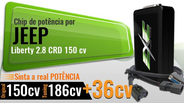 Chip de potência Jeep Liberty 2.8 CRD 150 cv