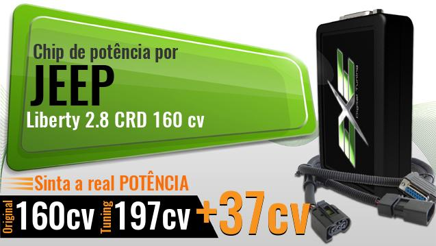 Chip de potência Jeep Liberty 2.8 CRD 160 cv