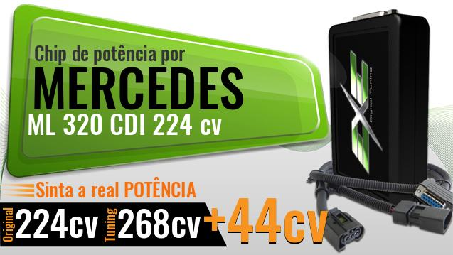 Chip de potência Mercedes ML 320 CDI 224 cv