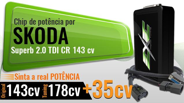 Chip de potência Skoda Superb 2.0 TDI CR 143 cv