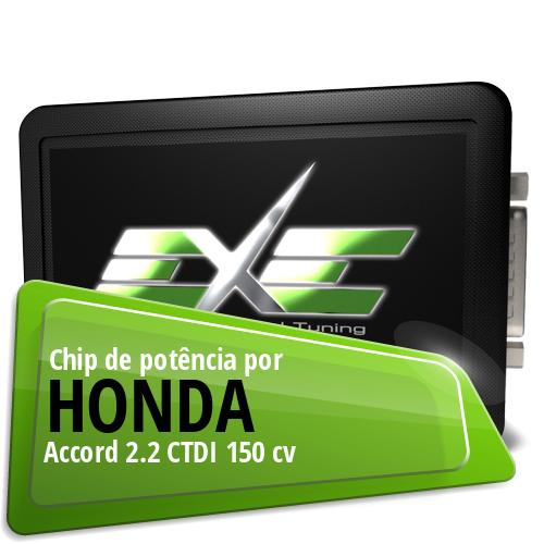Chip de potência Honda Accord 2.2 CTDI 150 cv